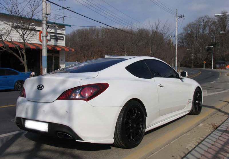 White Genesis Coupe White Rims White Genesis Coupe With