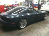 Montego Blue RX7 FD with SSR Sp3 18x9, 18x10
