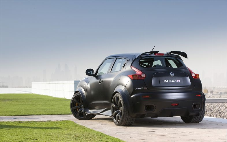 Nissan Juke R rear three quarters gallery pic